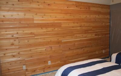 Cedar_Wood Wall (light Stain)